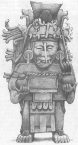 Скульптурное изображение бога Чака