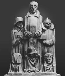 Э. Барлах. Памятник павшим. 1929 г. (уничтожен фашистами)